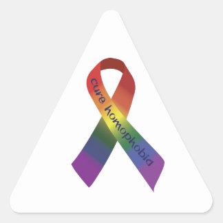 Cure Homophobia Triangle Sticker
