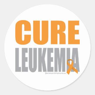 Cure Leukemia Round Sticker