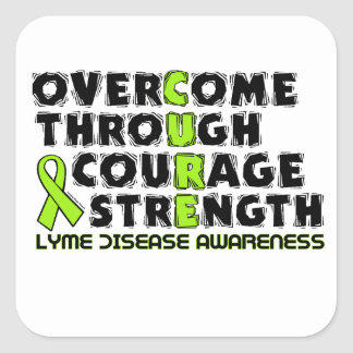 CURE...Lyme Square Sticker