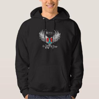 Cure Ovarian Cancer Heart Tattoo Wings Sweatshirts