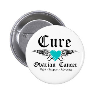 Cure Ovarian CancerTattoo Wings 2 Inch Round Button