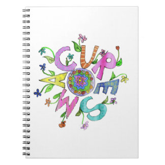 Cure SMA Flower Power 2 Spiral Notebook