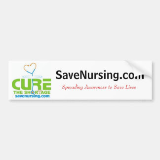 curethe2, SaveNursing.com, Spreading Awareness ... Bumper Sticker