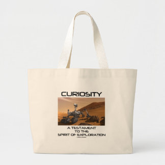 Curiosity A Testament To The Spirit Of Exploration Large Tote Bag