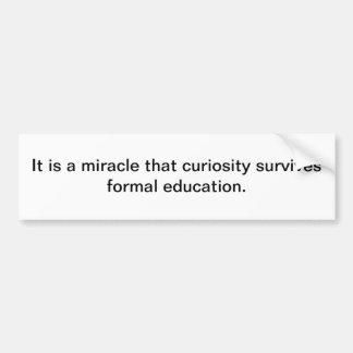 Curiosity Car Bumper Sticker