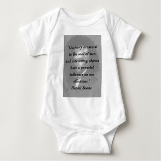Curiosity - Daniel Boone Baby Bodysuit