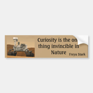 Curiosity Mars Rover Invincible NASA Bumper Sticke Bumper Sticker