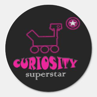 Curiosity Super Star  Pink Sticker