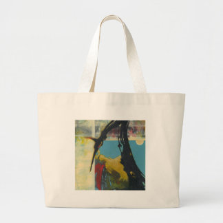 Curiosity the abstract dragon large tote bag