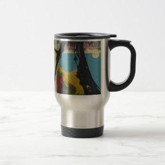 Curiosity the abstract dragon travel mug