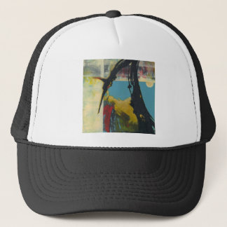 Curiosity the abstract dragon trucker hat