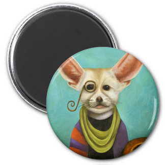 Curious As A Fox 2 Inch Round Magnet