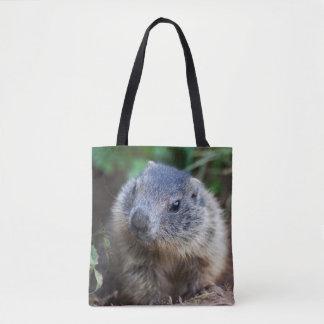 Curious Baby Marmot All Over Print Bag