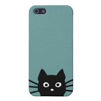 Curious Black Cat iPhone 5 Cover