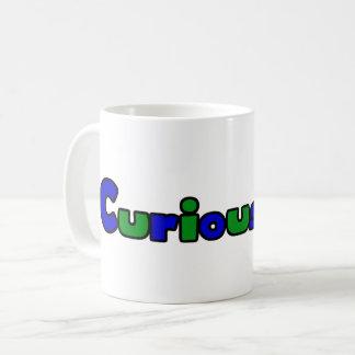 Curious Bob Comic Strip Logo 11oz Coffee Mug White