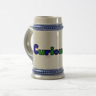 Curious Bob Comic Strip Logo 22oz Beer Stein