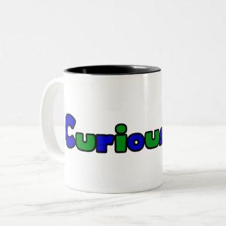 Curious Bob Comic Strip Two-Tone Coffee Mug