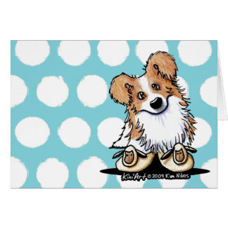 Curious Border Collie Blank Note Cards
