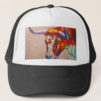 Curious bull trucker hat