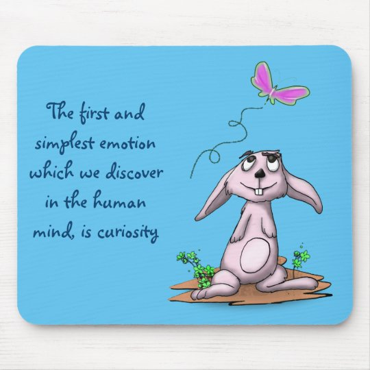 Curious Bunny Mouse Pad