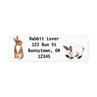 Curious Bunny Rabbit Label