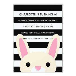 Curious Bunny | Stripes | Birthday Party Card