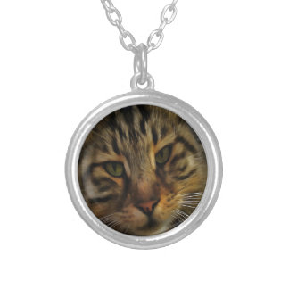Curious Cat Silver Plated Necklace