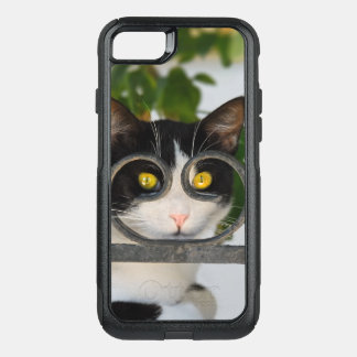 Curious Cat Spectacles Frame Funny Animal - on OtterBox Commuter iPhone 8/7 Case