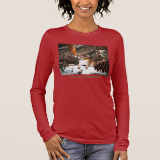 """Curious Chipmunk"" Long Sleeve T-Shirt"