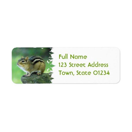 Curious Chipmunk  Mailing Labels