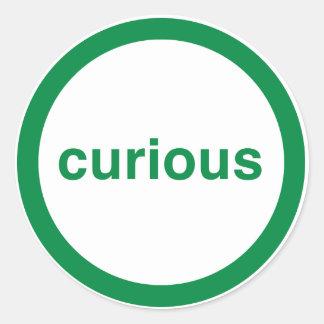 Curious Classic Round Sticker