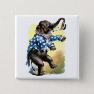 Curious Creatures - Elephant 2 Inch Square Button