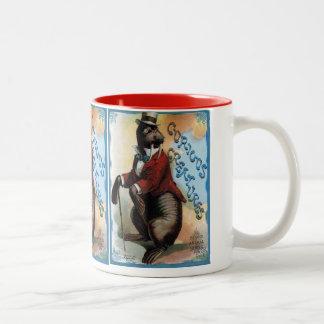 """Curious Creatures"" Vintage Two-Tone Coffee Mug"