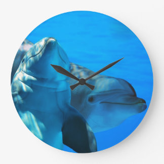 Curious Dolphins Wall Clock
