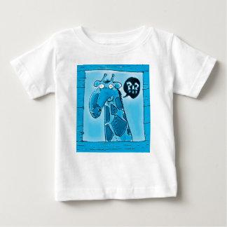 curious funny giraffe cartoon baby T-Shirt