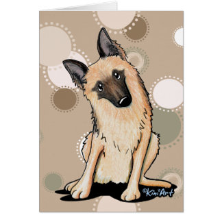 Curious German Shepherd Card