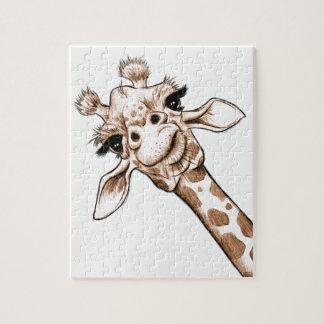 Curious Giraffe Art Jigsaw Puzzle