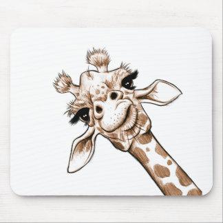 Curious Giraffe Art Mouse Pad