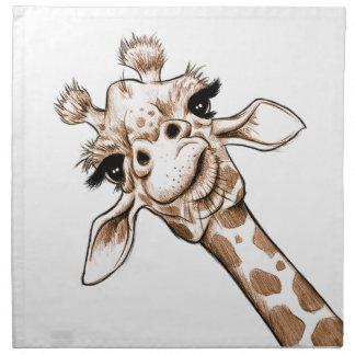 Curious Giraffe Art Napkin