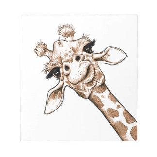 Curious Giraffe Art Notepad
