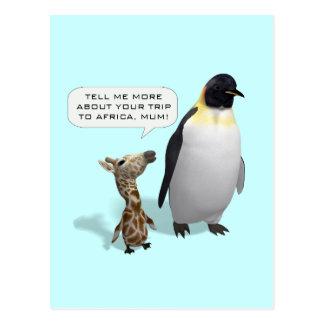 Curious Giraffe Baby Postcard