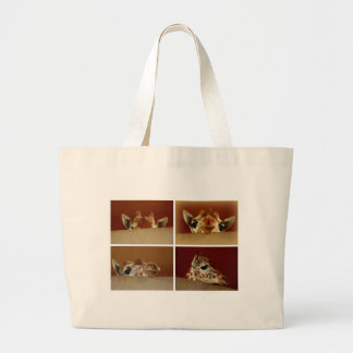 Curious Giraffe Large Tote Bag