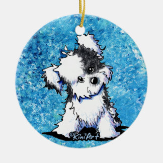 Curious Havanese Dog Ornament