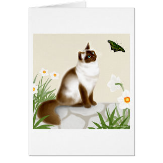 Curious Himalayan Cat Card