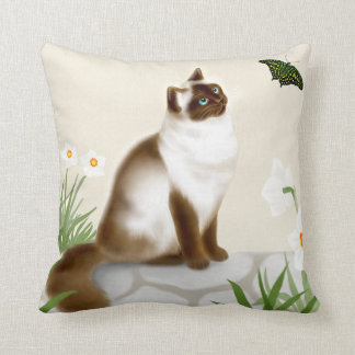 Curious Himalayan Kitty Pillow