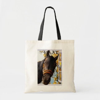 Curious Horse Looking Through The Kitchen Window Tote Bag