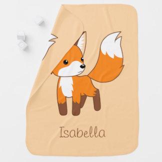 Curious Little Fox Peach Baby Blanket