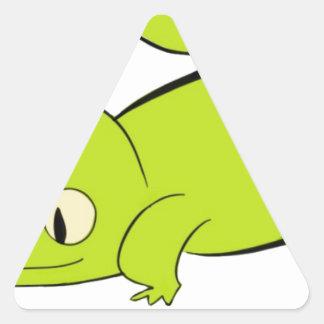 Curious lizard triangle sticker
