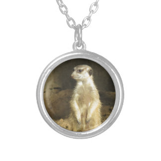 Curious Meerkat Silver Plated Necklace