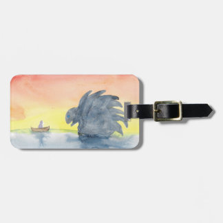 Curious Meeting Luggage Tag